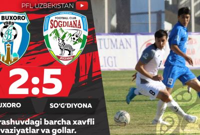 Coca Cola Superliga, 21-tur: BUXORO — SO'G'DIYoNA 2:5